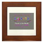 Modern Atlanta Peach of the S Framed Tile