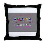 Modern Atlanta Peach of the S Throw Pillow
