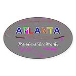 Modern Atlanta Peach of the S Oval Sticker