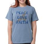 Peace Love Faith Womens Comfort Colors Shirt