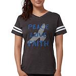 Peace Love Faith Womens Football Shirt