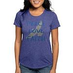 Peace Love Faith Womens Tri-blend T-Shirt