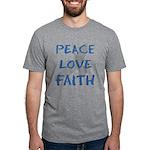 Peace Love Faith Mens Tri-blend T-Shirt