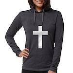 White Cross Womens Hooded Shirt