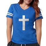 White Cross Womens Football Shirt