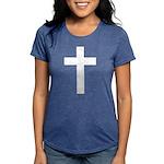 White Cross Womens Tri-blend T-Shirt