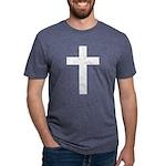 White Cross Mens Tri-blend T-Shirt