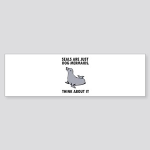 Seals are just dog mermaids. Sticker (Bumper)