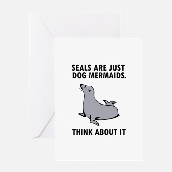 Seals are just dog mermaids. Greeting Card