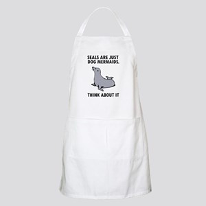 Seals are just dog mermaids. Apron