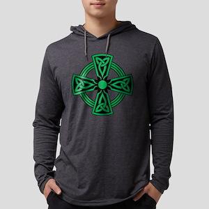 Celtic Cross Mens Hooded Shirt