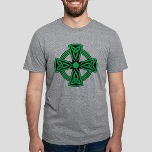 Celtic Cross Mens Tri-blend T-Shirt