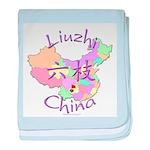 Liuzhi China Map baby blanket