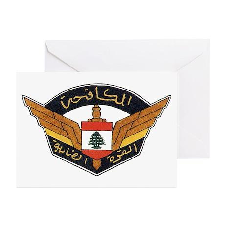 Lebanon Strike Force Greeting Cards (Pk of 10)