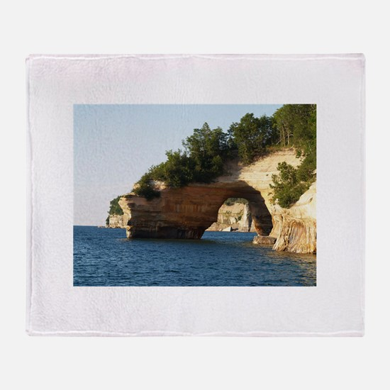 Pictured Rocks Throw Blanket