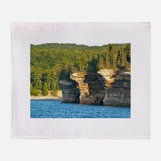 Pictured Rocks A Throw Blanket