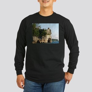 Pictured Rocks C Long Sleeve Dark T-Shirt
