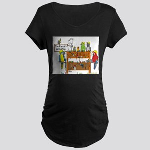 The Parrot's Workshop Logo Maternity Dark T-Shirt