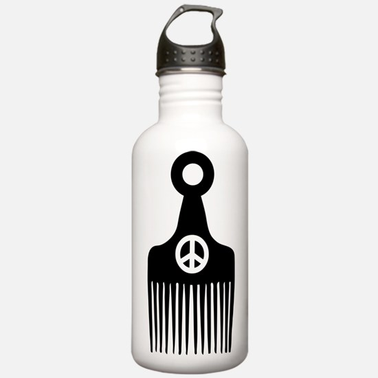 Afro Hair Peace Water Bottle