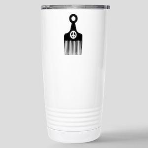 Afro Hair Peace Stainless Steel Travel Mug