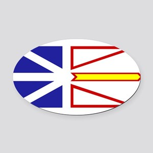 Newfoundland and Labrador Oval Car Magnet