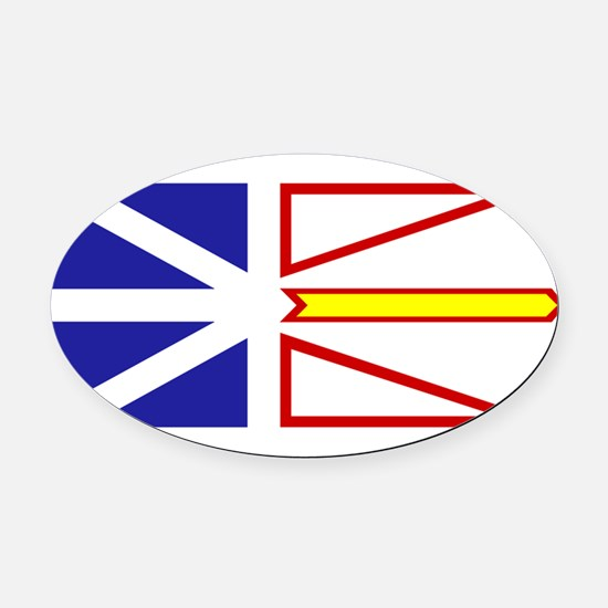 Newfoundland and Labrador.png Oval Car Magnet
