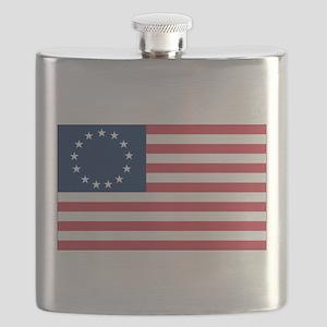 Betsy Ross flag Flask