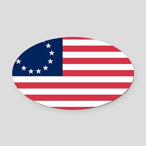 Betsy Ross flag Oval Car Magnet