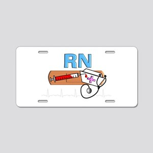 RN Blue Aluminum License Plate