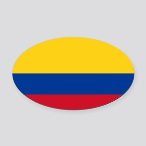 Colombia Oval Car Magnet