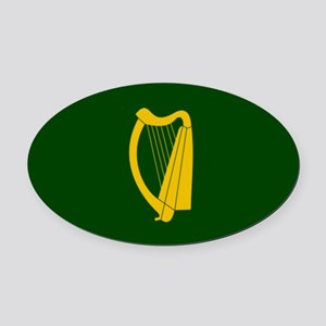 Irish Flag 2 Oval Car Magnet