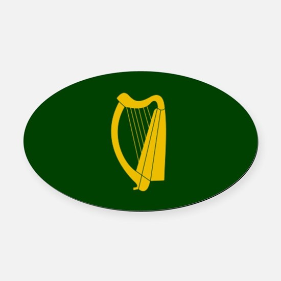 Irish Flag 2.png Oval Car Magnet