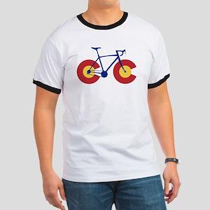 Colorado Flag Bicycle T-Shirt