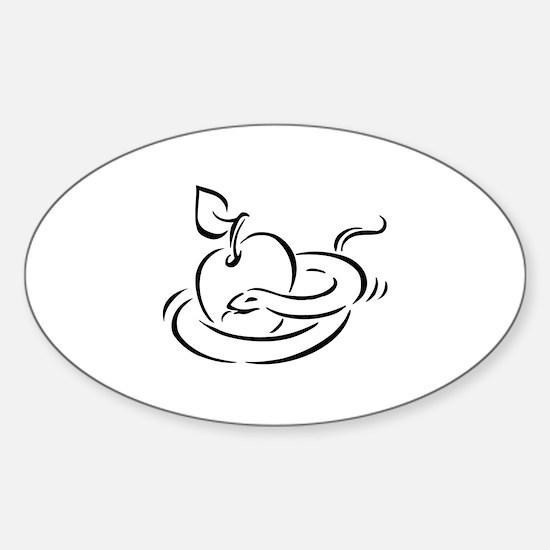 Snake Sticker (Oval)