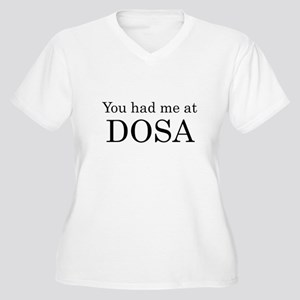 You Had Me at Dosa Women's Plus Size V-Neck T-Shir