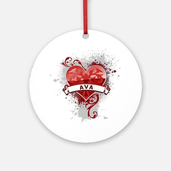 Love Ava Ornament (Round)