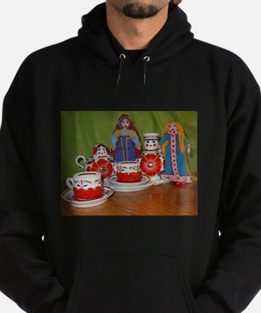 Russian Doll Tea Time Hoodie (dark)