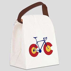 Colorado Flag Bicycle Canvas Lunch Bag