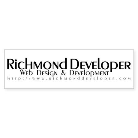 Richmond Developer Bumper Sticker