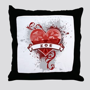 Love Zoe Throw Pillow