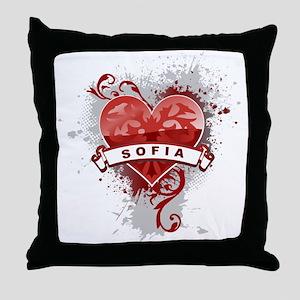Love Sofia Throw Pillow