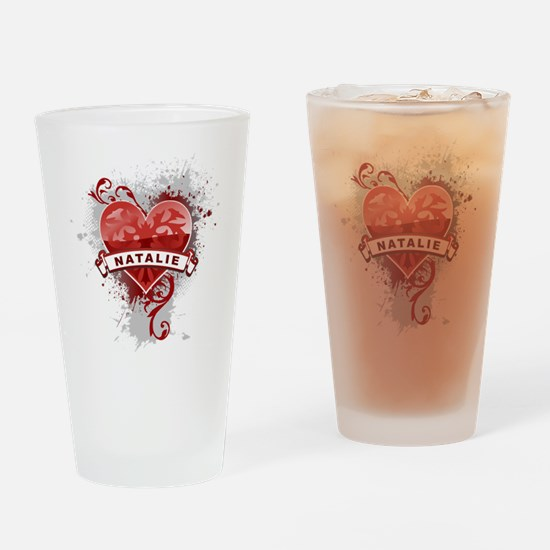 Love Natalie Drinking Glass