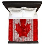 Canadian Flag brick wall king duvet design Kin