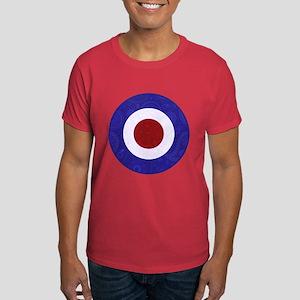 Retro Paisley Mod target design Dark T-Shirt