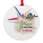 It Makes a Difference Round Ornament
