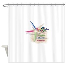 It Makes a Difference Shower Curtain