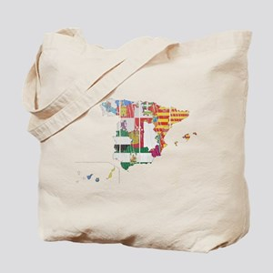 Spain Subdivisions Flag And Map Tote Bag