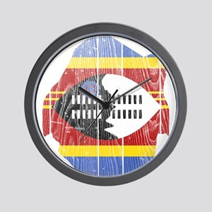 Swaziland Flag And Map Wall Clock