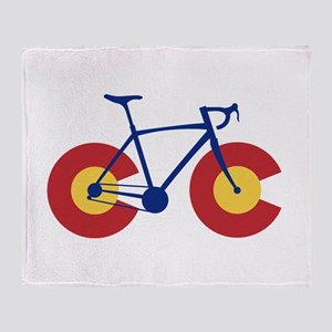 Colorado Flag Bicycle Throw Blanket