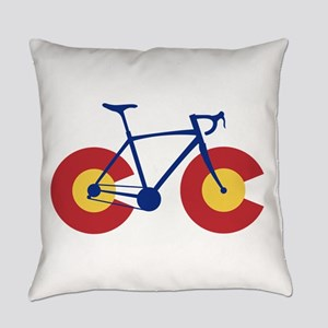 Colorado Flag Bicycle Everyday Pillow